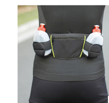 BEKELE Nylon Running Sports Waist Pack Holder Bum Bag Travel Waist Belt Pouch With Dual Water Bottle Suitable for Outdoor Sports