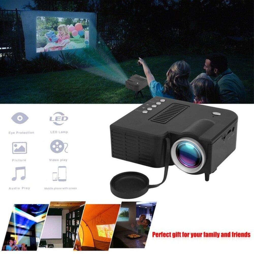 UC28B Portable HD 1080P Mini projecteur LED avec TV USB AV pour Home Office cinéma cinéma divertissement multimédia