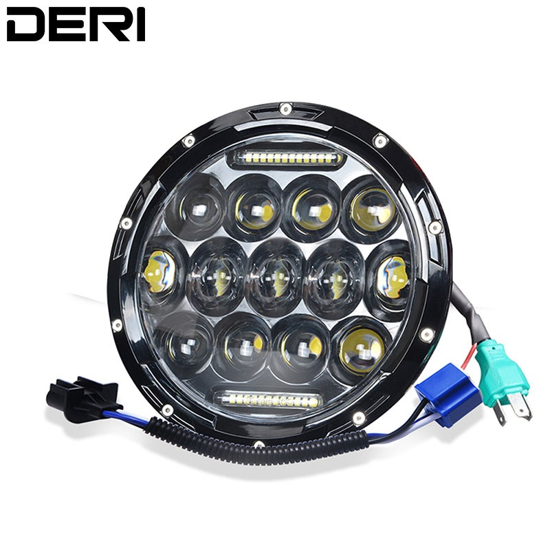 7inch 80W Led Headlight H13 H4 High Low Beam Round Mixed mode Cars Running Lights for Lada Harley Jeep urban Niva 4x4 Motorcycle