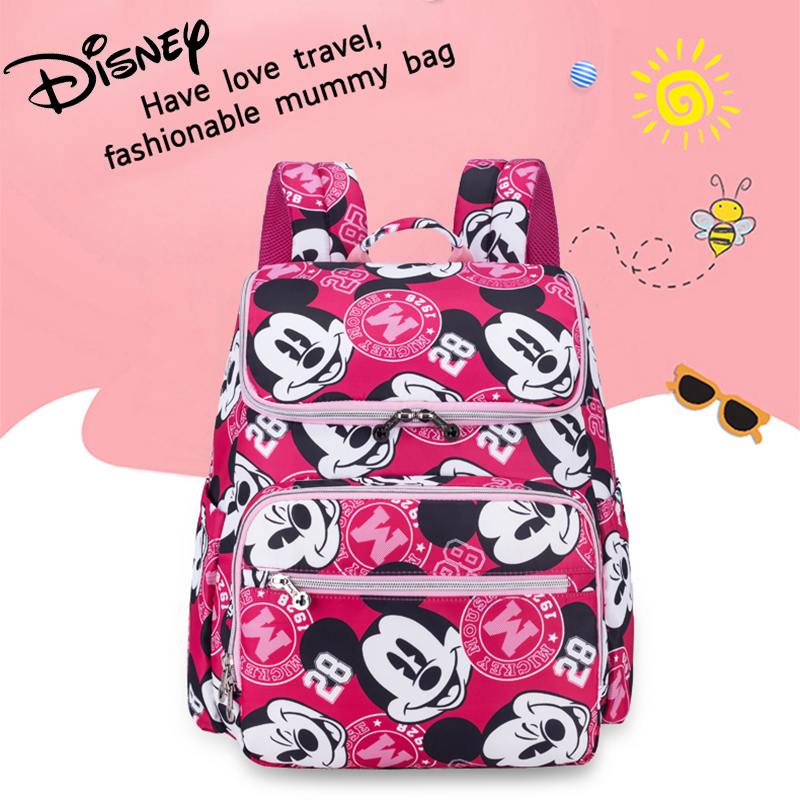 Disney Fashion Mickey Mummy Maternity Nappy Bag Large Capacity Baby Minnie Diaper Bag Travel Backpack Nursing Bags For Baby CareDisney Fashion Mickey Mummy Maternity Nappy Bag Large Capacity Baby Minnie Diaper Bag Travel Backpack Nursing Bags For Baby Care