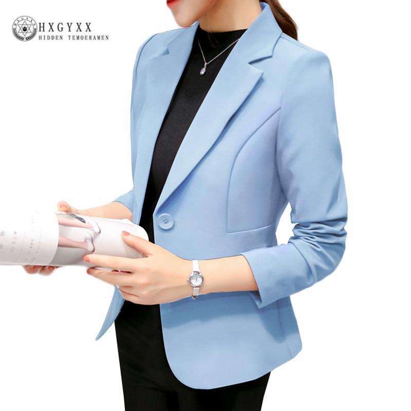 Fashion Women OL Slim Blazer Casaco Feminino Coat Female Jackets Turn-down Collar Long Sleeve Office Ladies Suit 2018 OKD079