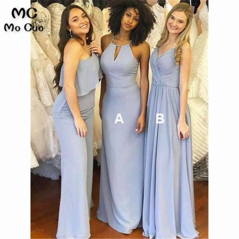 2019 In Stock Ready Wedding Party   Dress     Bridesmaid     Dresses   with AB Custom Made Women   Bridesmaid     Dress   Long