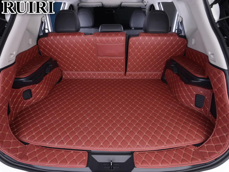 Good Quality Full Set Car Trunk Mats For Nissan Rogue Seats Waterproof Boot Carpets