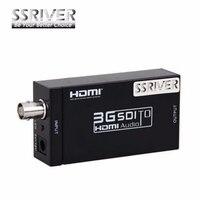 SSRIVER Extender Mini SDI To HDMI Converter Adapter 3G HD SDI For Driving HDMI Monitors With