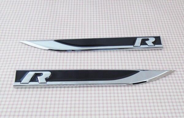 Черная линия R для Пассат СС туарег Туран крыло сторона крыла эмблема значок наклейка