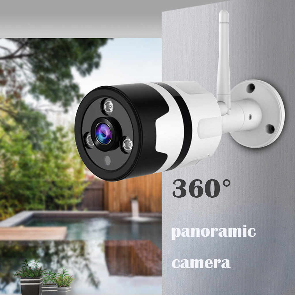 New Outdoor Wireless Security Waterproof WiFi IP Camera 1080P Wide Angle Fish Eye Wireless Home Surveillance Bullet Camera