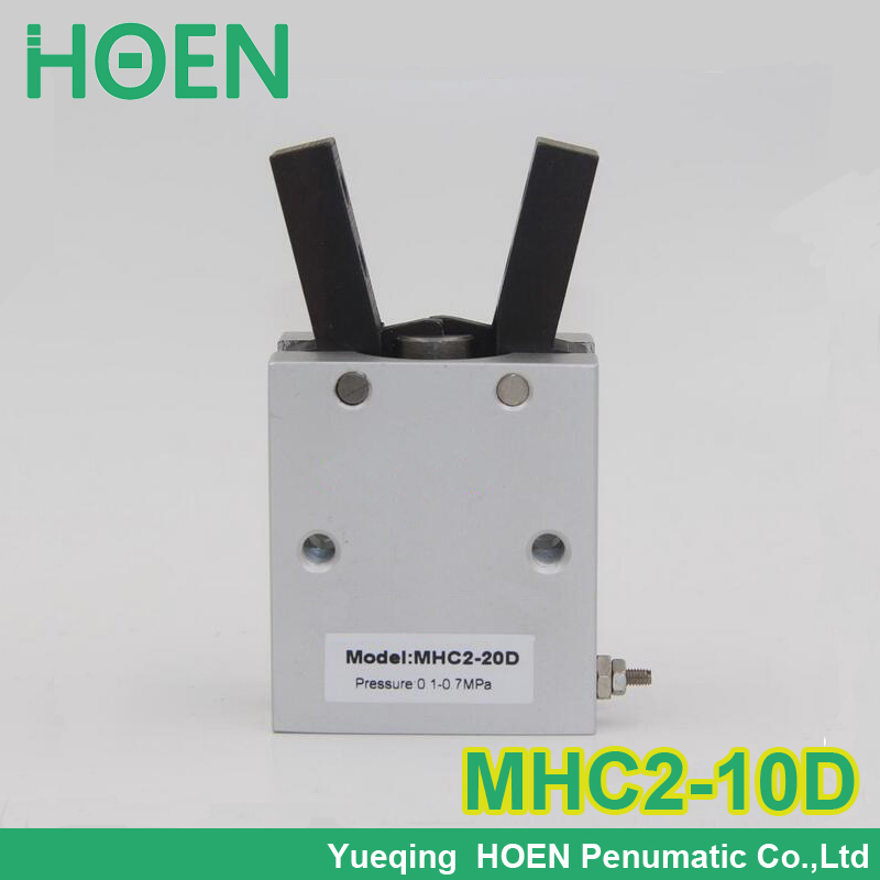 High quality double acting pneumatic air cylinder gripper MHC2-10D SMC type angular style aluminium clamps mhc2 10d angular style double acting air gripper standard type smc type pneumatic finger cylinder
