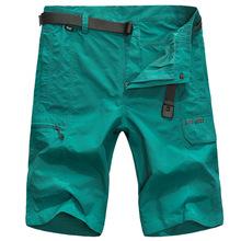 Nianjeep Casual Shorts Men Polyester Summer Thin Fast Dry Cargo Shorts Man Zipper Multi pocket 2018