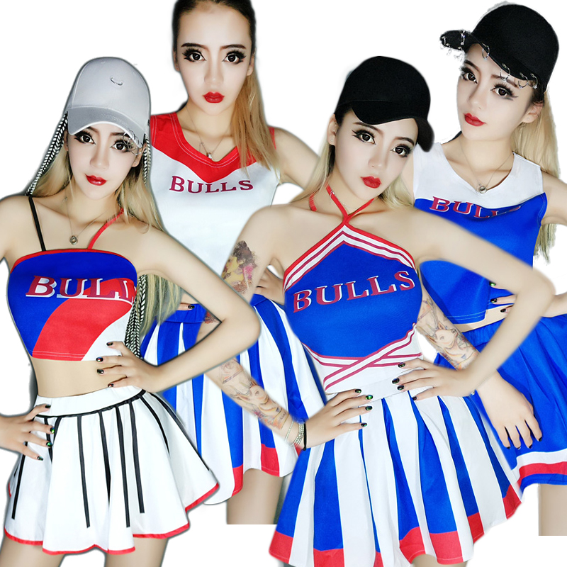 Hip Hop Cheerleading Jazz Dance Costumes Sexy Led Suit Rave Clothes Nightclub Singer Pole Dance Clothing Stage Outfits DN2058