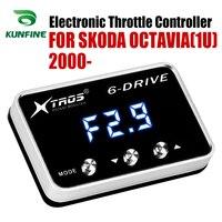 자동차 전자 스로틀 컨트롤러 SKODA OCTAVIA (1U) 2000 2019 용 레이싱 가속기 강력한 부스터 모든 가솔린 엔진 튜닝|자동차 전자 스로틀 제어 장치|자동차 및 오토바이 -