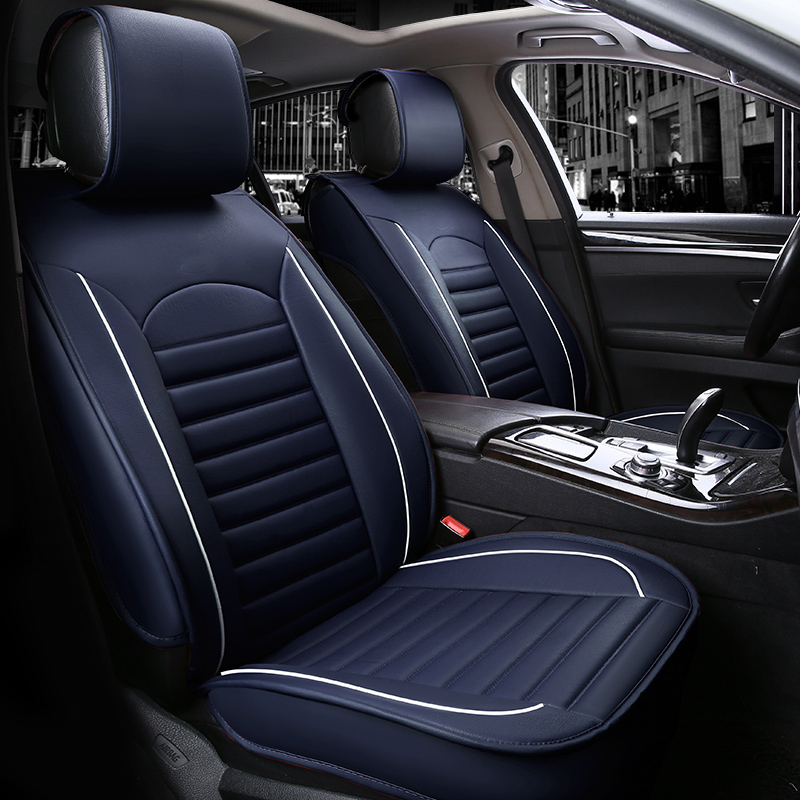 New Car Seat Covers Leather  Luxury Car Seat Cover Set Four Seasons Protector Cover Car Interior Accessories extreme pu leather fur seat covers universal set auto interior covers car seat protector car accessories automobiles