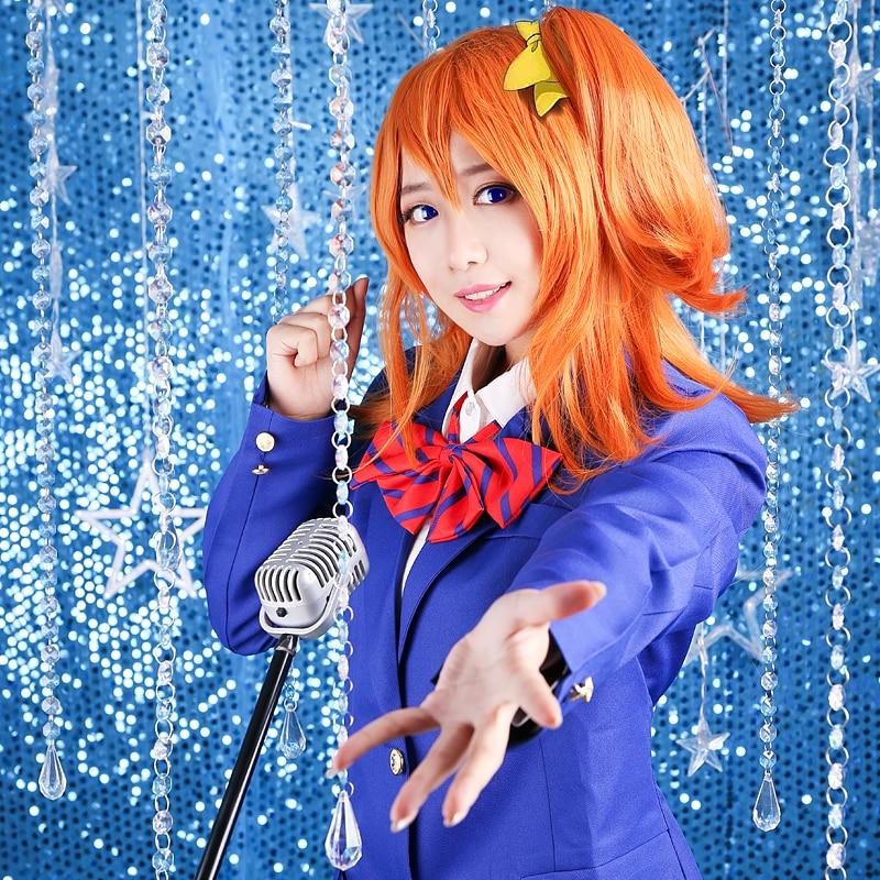 Love live school uniform font b cosplay b font costume lovelive niko Kotori Honoka maki font