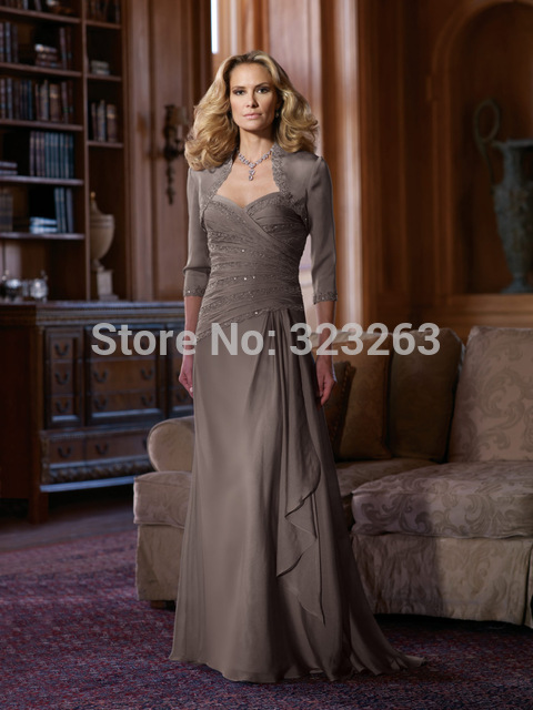 Western country mother of the bride dresses with jacket for Western wedding mother of the bride dresses