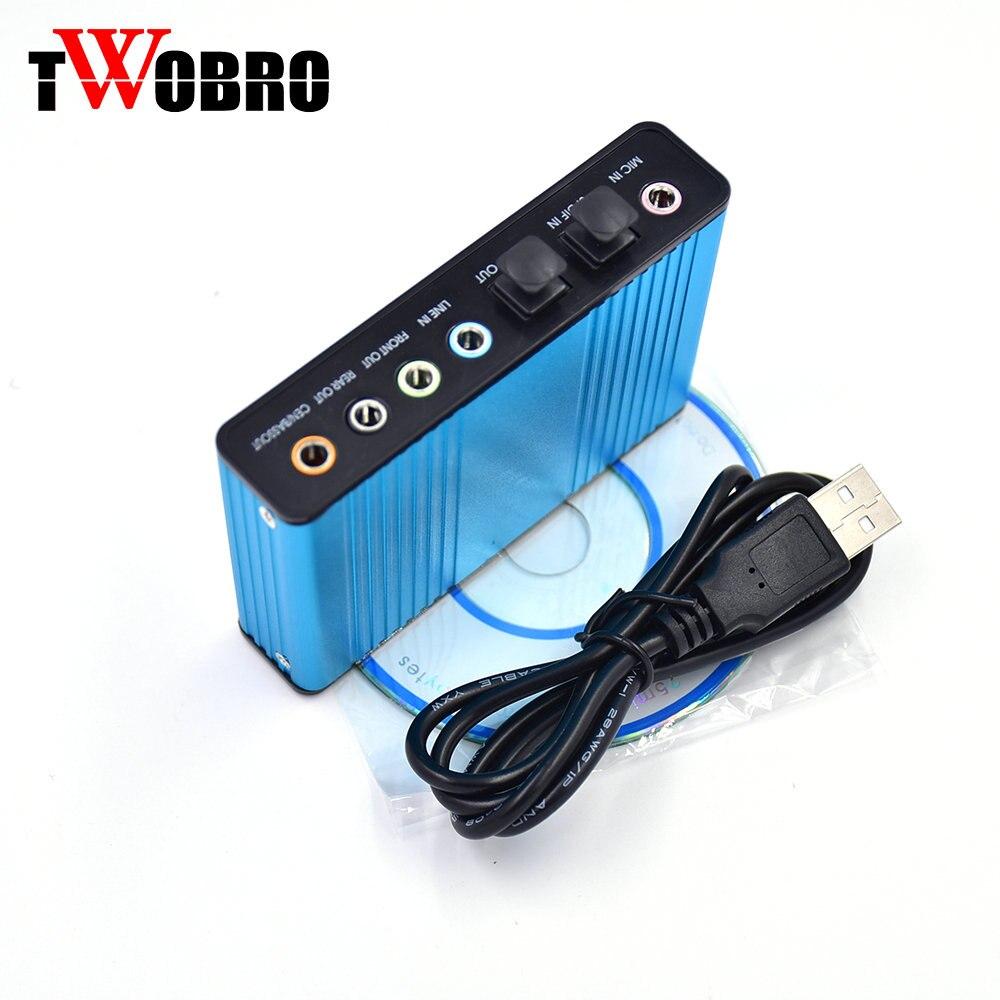 Venta caliente externa tarjeta de sonido USB 5.1 Channel audio óptico tarjeta adaptador para PC portátil