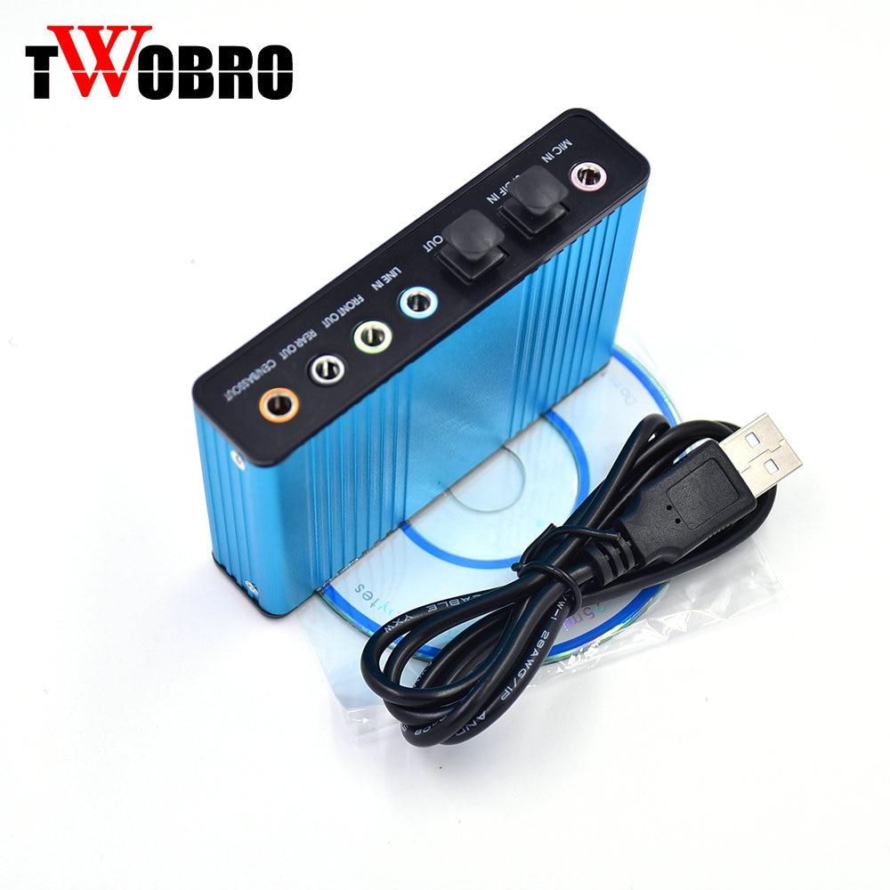 Vente chaude Externe USB Carte Son Canal 5.1 Audio Optique Carte Adaptateur pour PC Ordinateur Portable