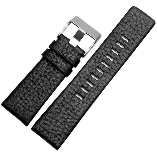 d517cf195a28 Cuero auténtico reloj diesel Correa hombres mujeres para dz7313 dz1405  pulsera marrón negro blanco 22mm 24mm