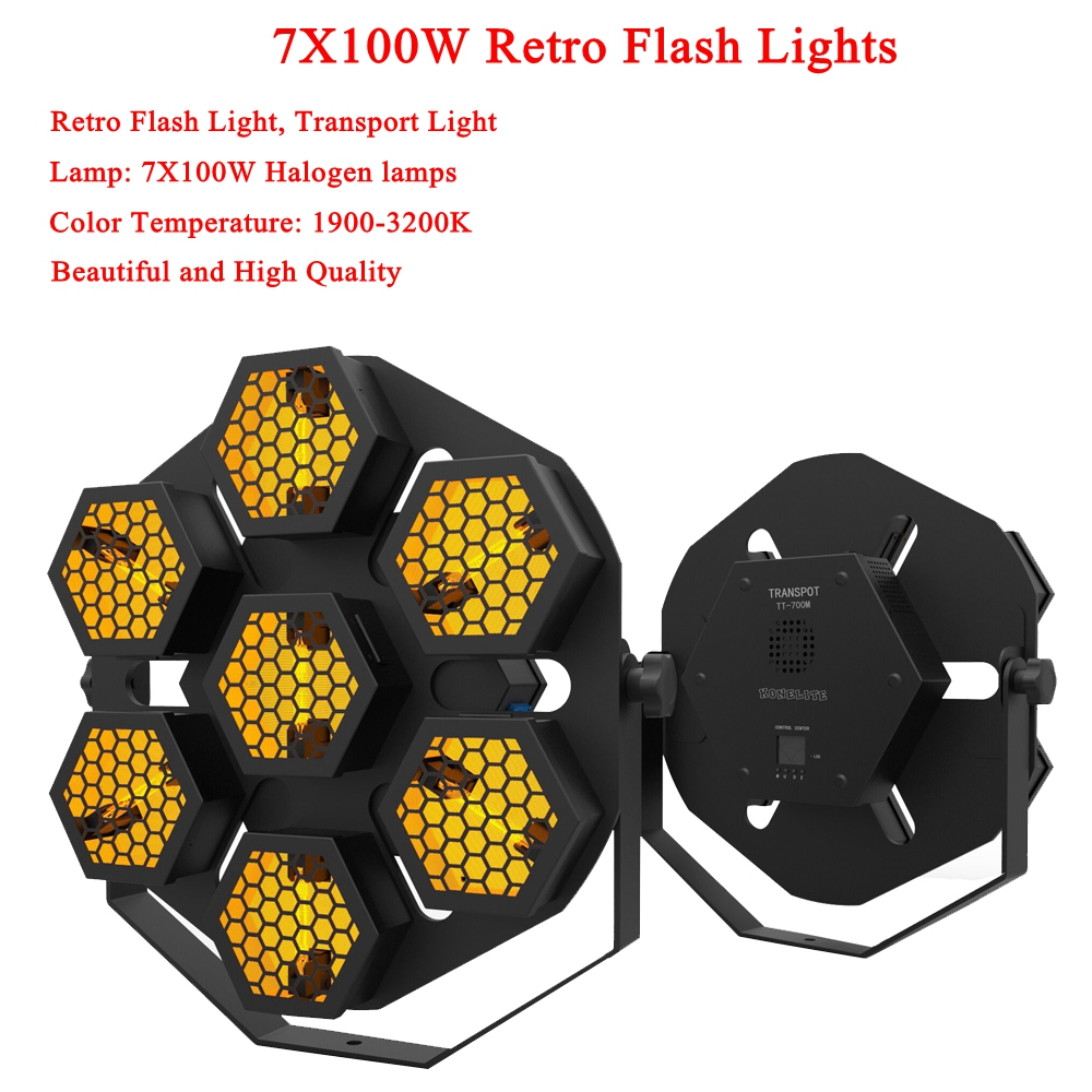 LED Lamp 7X100W Retro Flash Light Transport Light Disco Party Lights Professional Stage Effect Light Dj Equipment