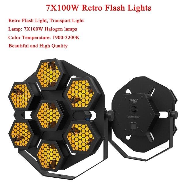 Led ランプ 7X100W レトロフラッシュ光輸送ライトディスコパーティープロの舞台効果光 dj 機器