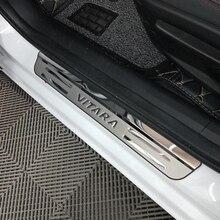 Car Accessories For Suzuki Vitara Door Sill Scuff Plate Stainless Steel Door Sills Pedal Car Styling Sticker 2017 2018 car stainless steel door sills scuff plate fit for 2017 hyundai solaris hatchback sedan dual tone door sills