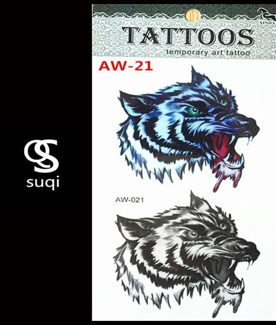 3 D Tatouages Body Art Tatouage Loup Maquillage Le Dieu Indien