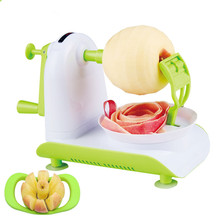Fashion Cool New Apple Peeler Multi-function Handle Stainless Steel Rotating Fruit  Kitchen Utensils To Send