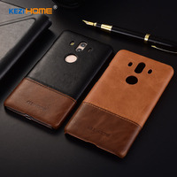 Case For HuaWei Mate 10 Pro KEZiHOME Luxury Hit Color Genuine Leather Hard Back Cover For