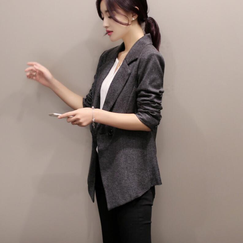 Moralité Petits Ardoisé Pains À Printemps Sa Nouvelle Longues Loisirs Comme Des Manteau Femme Cultiver Double Boutonnage Vendre Manches 2019 Mode Eqw6FHxt