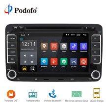 Podofo 2 Din Android 7.1 Car Audio Radio Lettore DVD Dell'automobile GPS WIFI Radio Multimedia player di Sostegno Della Macchina Fotografica Per VW /Golf/6 5/Passat