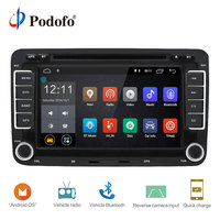 Podofo 2 Din Android 7.1 Car Radio Audio Car DVD Player GPS WIFI Radio Multimedia player Support Camera For VW/Golf/6 5/Passat