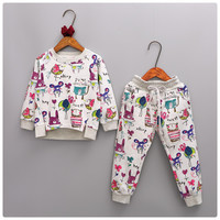 Autumn Children S Clothing Sets Kids Boys Girls Clothes Set Hand Painted Sport Suits Teenager Coat