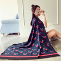 The new little monsters pattern cotton scarf  Female geometry sunscreen scarves