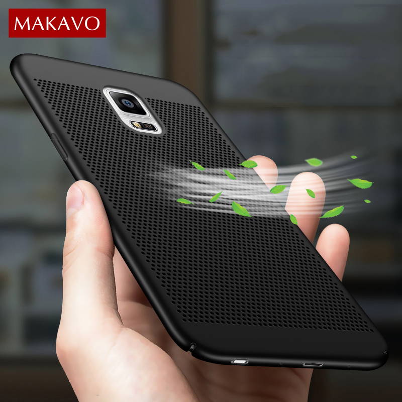 MAKAVO For Samsung Galaxy Note 5 Case 360 Matte Hard Plastic Slim Hollow Back Cover For Samsung Galaxy Note 3 Note 4 Phone Cases