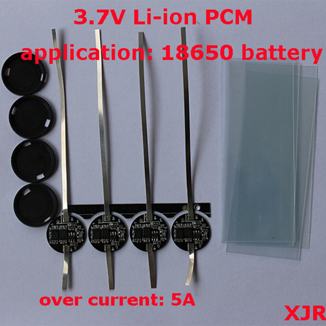 5 PZ/un terreno di 1 S 5A 4.2 V lipo Polimeri di litio BMS/PCM/PCB circuito di protezione della batteria per 1 Pack 18650 Batteria Li Ion cellulare