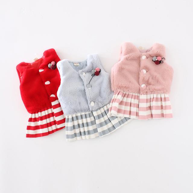 2016 casaco novo primavera e no verão bebê colete menina dos desenhos animados casaco de pelúcia jaqueta da menina das crianças 1-3 anos frete grátis