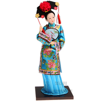 Antique Lovely 12 Chinese Style Home Accessories Ornaments Craft Ancient Chinse Princess Doll With Beautiful Clothing