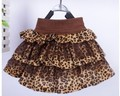 one pcs retail 2014 children's spring summer clothing girls leopard print tutu kid's skirt short skirt bow fashion layered tutu