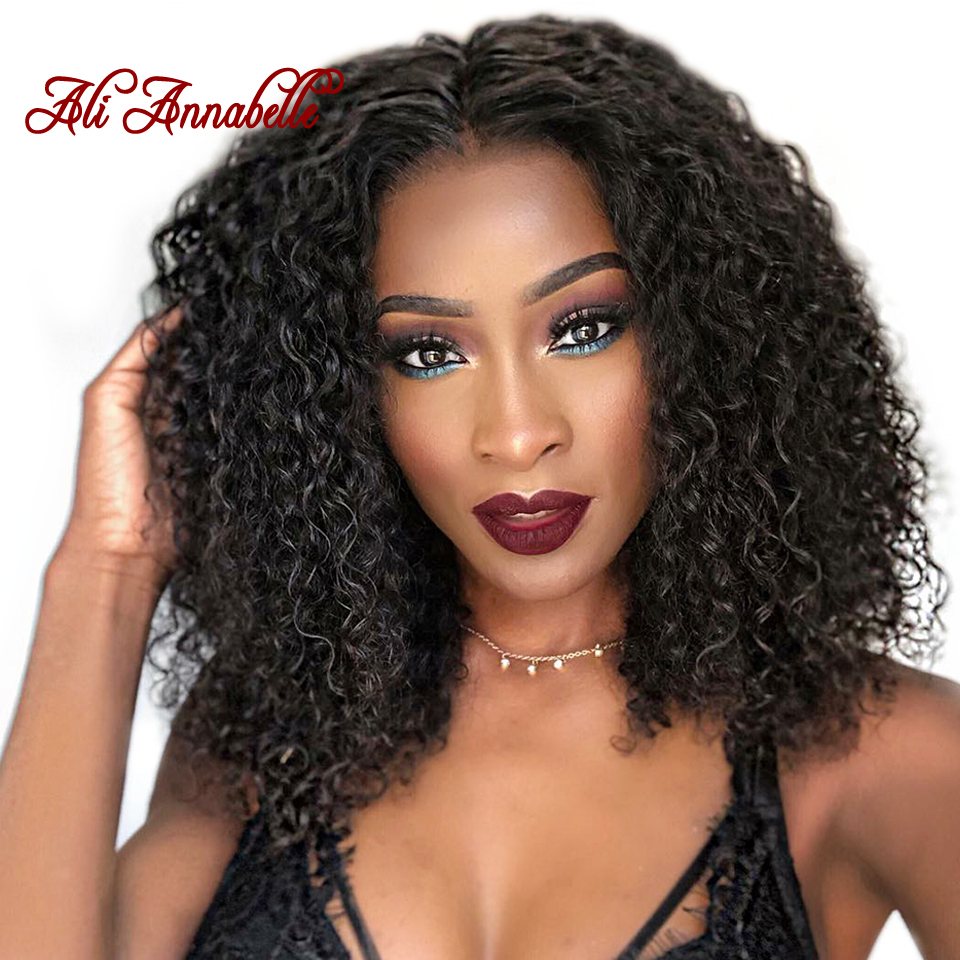 short lace front human hair wigs brazilian deep wave bob wig with pre plucked hairline 150% lace wig for black women remy hair