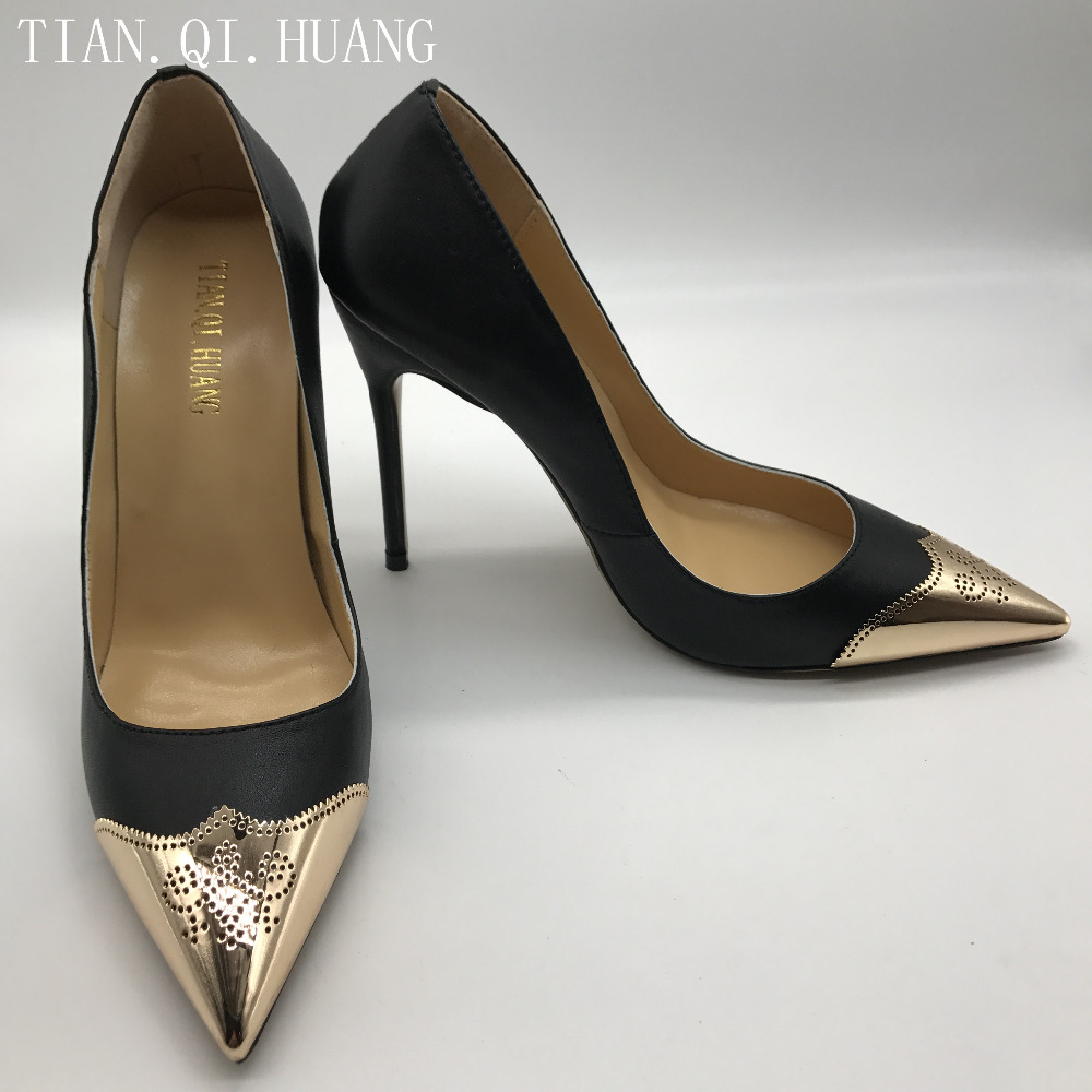 New Women Pumps High Heels Pointed Toe Black Shoes Woman High Heels Sexy Fashion Design Woman Size 35-42 TIAN.QI.HUANG Brand 2