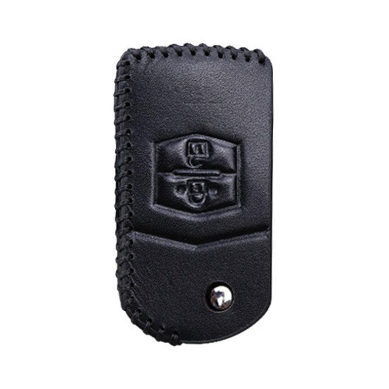 Leather Car Key Cover Shell for <font><b>Mazda</b></font> 2 3 5 6 8 Atenza CX5 CX7 <font><b>CX9</b></font> MX5 RX 2003 2004 2005 2006 2007 2008 2009 2010 2011 <font><b>2012</b></font> 2013 image