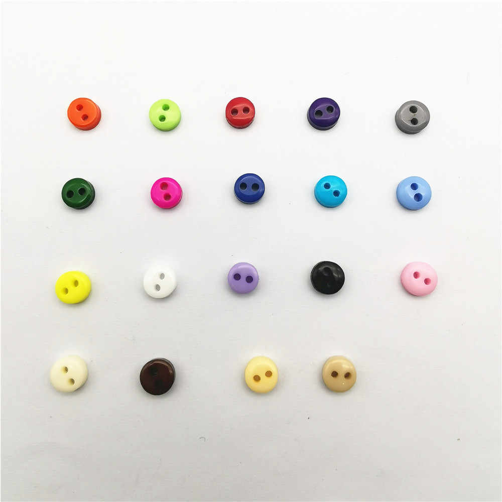 600 Pcs//lot 6mm Round Resin Mini Tiny Buttons Sewing Tools Decorative Butto J8O2