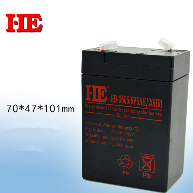 New Arrival 6v 5ah 20hr Rechargeable Battery Toy Car Battery Fire