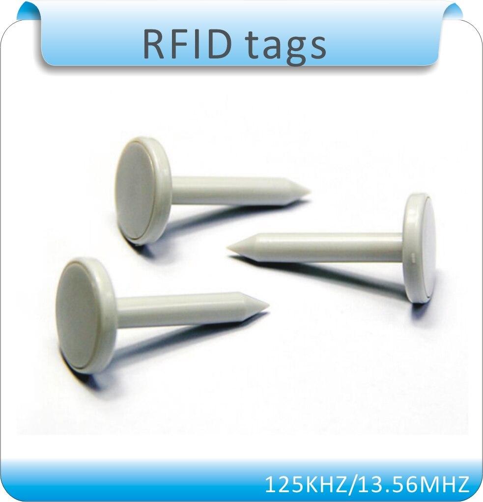 Free shipping 100pcs  23X34X7mm Tk4100 125KHZ nail RFID tags /Patrolling point , nail RFID Patrolling point  button mb barbell мв 2 27 grey