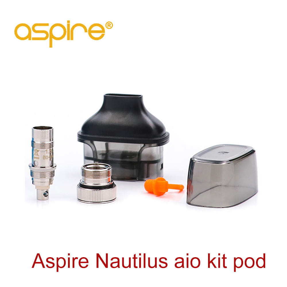 Aspire Nautilus AIO Pod Vape Zerstäuber 4,5 ml Kapazität 1.8ohm Nautilus bvc spule Elektronische Zigarette Vape pod Für Nautilus AIO kit