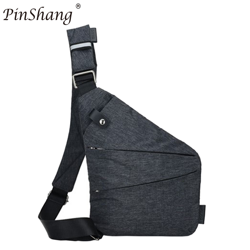 25ac3e176e PinShang Men Sling Casual Bag Messenger Anti Theft Oblique Cross Chest Bag  Pack Single Shoulder Pack with Magnetic Buckle ZK30-in Waist Packs from ...