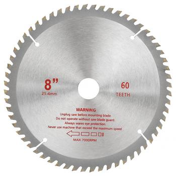 цена на Circular saw blade 8inch Professional Alloy 60-Tooth Saw Blade Woodworking Cutting Disc Wheel Cutter Band saw blade