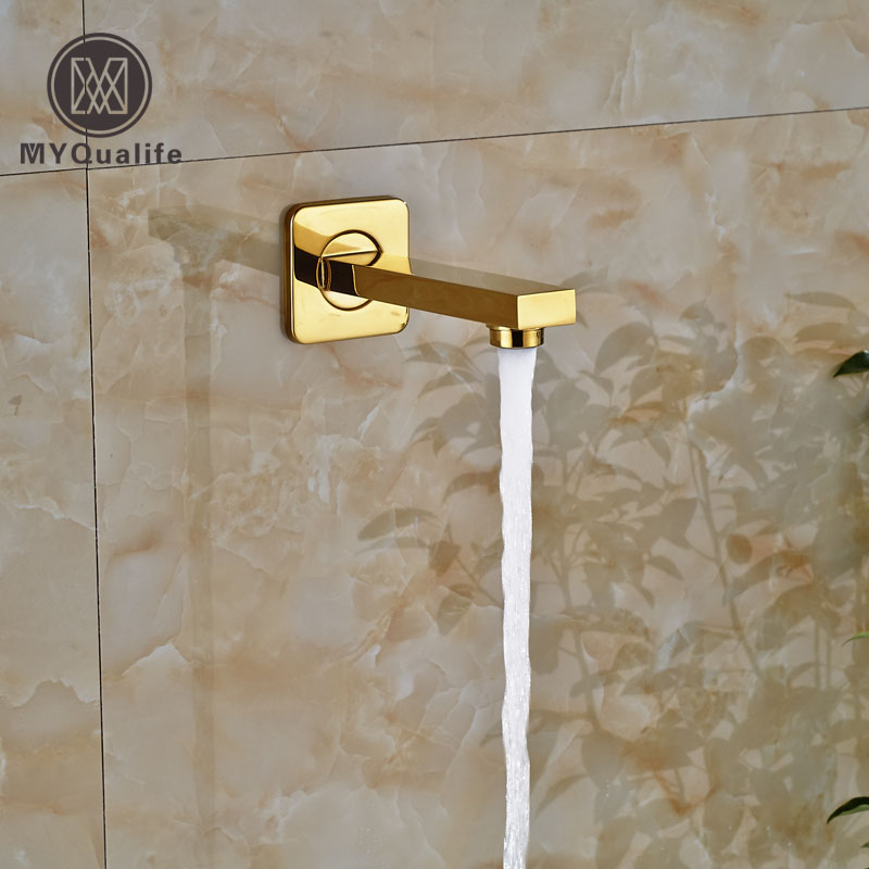 Free Shipping Golden Brass Faucet Accessory Shower Faucet Tub Spout Tub Filler