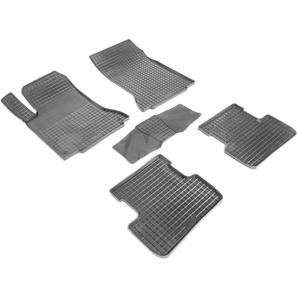 цена на Rubber grid floor mats for Mercedes-Benz B-class W246 2012-2018 Seintex 86079