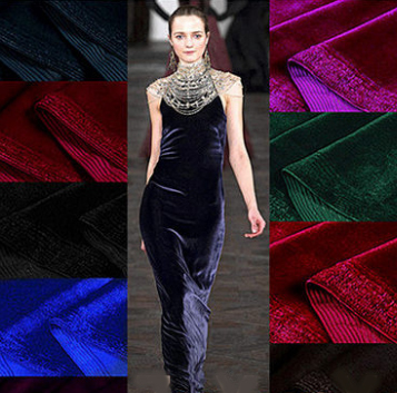 European Style Evening Velvet Dress Fabric South Korea Pleuche Velvets felt  telas velvet african fabric tissus patchwork stoff