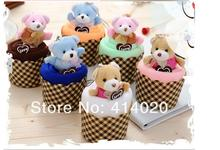 200pcs/lot! 2016 Hot Sale!Party Supplies Wedding Favors And Gifts Wholesale Microfiber High Absorbent Teddy Bear Cake Towel