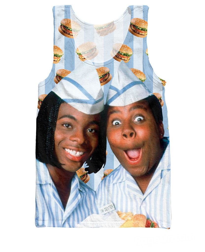 Women Men 3d Fashion Summer Style Shirt Kenan & Kel Good Burger   Tank     Top   fast food adventure restaurant Vest